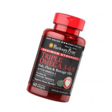 Triple Omega 3-6-9, 60 softgels Puritan's Pride